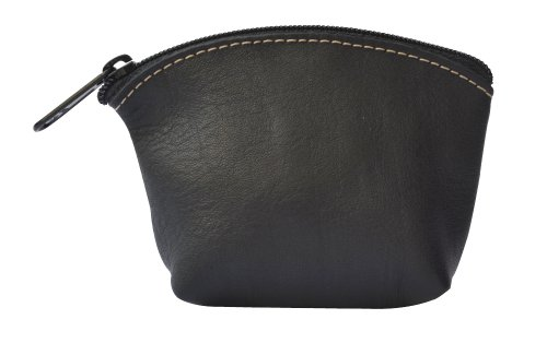 Artisans Made Leather Coin Purse in Black - from Costa Rica.
