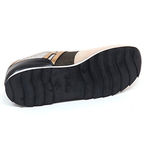 Beige Nero Nero Donna Hogan R261 Shoe Sneaker E0242 Woman Beige wqFxP74IU