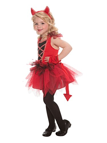 Toddler Girls Red Devil Diva Costume Tutu Dress with Tail 2T