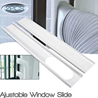 GUCHIS 2Pcs Window Slide Kit Plate for Portable Air Conditioner(Not Included Window Adapter)