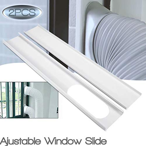 (GUCHIS 2Pcs Window Slide Kit Plate/6inch Window Adapter for Portable Air Conditioner )