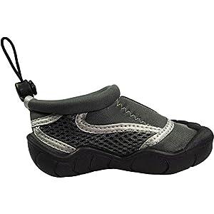 Norty - Boys Skeletoe Aqua Water Shoe, Grey, Silver 39875-4MUSBigKid