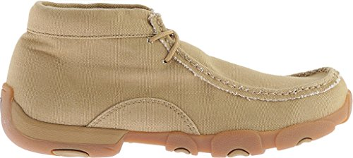 Canvas Driving Men's Boots X Khaki MDM0051 Twisted Moc OqFSx6xa