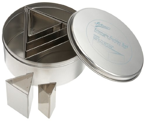 Ateco 6 pc Stainless Steel Triangle Cutter Set