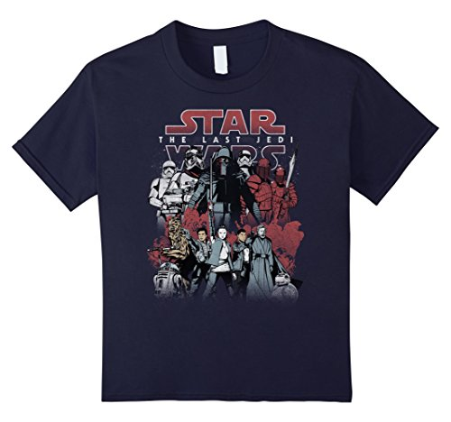 Price comparison product image Kids Star Wars Last Jedi Order Against Resistance Graphic T-Shirt 10 Navy