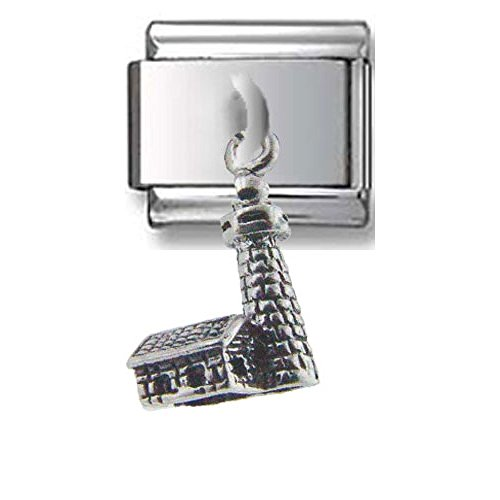 Lighthouse Dangle Silver Itali