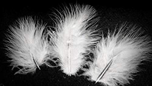 1 Packet of 1 Bag 1/4 Oz /8 G/ 100 Bright White Turkey Marabou Crafting Feathers 1-3