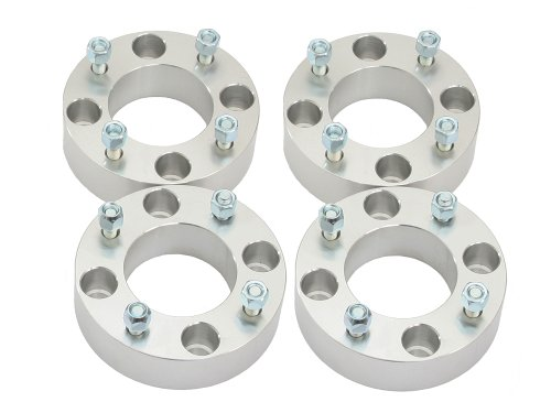 (4) 2'' Thick 4x137 ATV Wheel Spacers with 10x1.25 Studs/Nuts for Kawasaki Can Am Can-Am: Bayou Brute Force Mule Prairie Outlander Commander Maverick Outlander Renegade Bombardier (4/137) Silver by Precision European Motorwerks