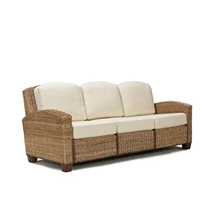Home Styles 5401 61 Cabana Banana 3 Seat Sofa, Honey Oak Finish