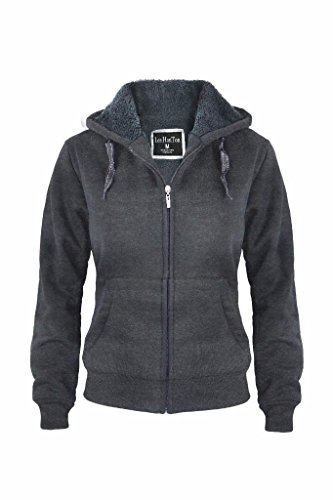 Hanton Womens Sherpa Lined Fleece Hoodie