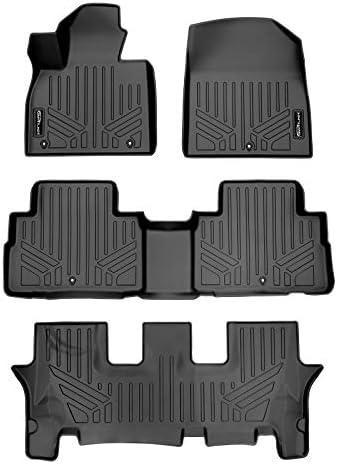 SMARTLINER Custom Fit 3 Row Floor Mat Liners for 2020-2021 Hyundai Palisade Fits Bench & Bucket Seats, Black