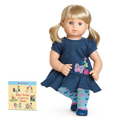 (American Girl Bitty Twins Dolls - Blond Boy and Girl with