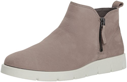 ECCO Women's Women's Bella Zip High Top Ankle Boot, Warm Grey Nubuck, 36 M EU (5-5.5 (Ecco Nubuck Boots)