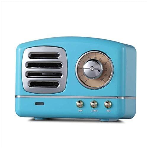 レトロBluetooth小型スピーカーミニクリエイティブギフトポータブルラジオコンピューターワイヤレス携帯電話ステレオ(ブルー)