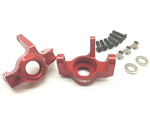 - Treal Alloy Steering Front Knuckle for 1/10 Axial Wraith RC Crawler Car - Red