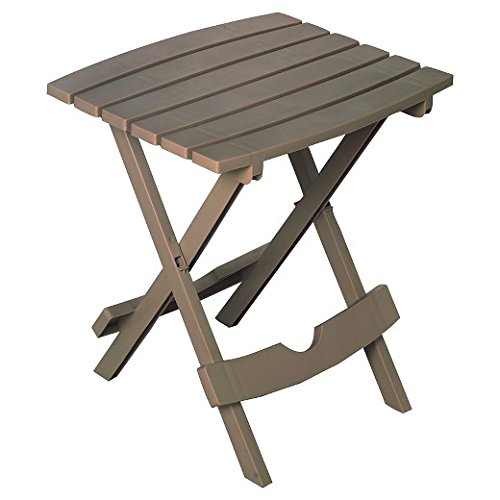 Plastic Folding Patio End Table, 2-pc Set (Quick Fold) (Great for Camping & RV)