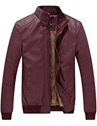 Amazon.com: Red - Leather & Faux Leather / Jackets & Coats