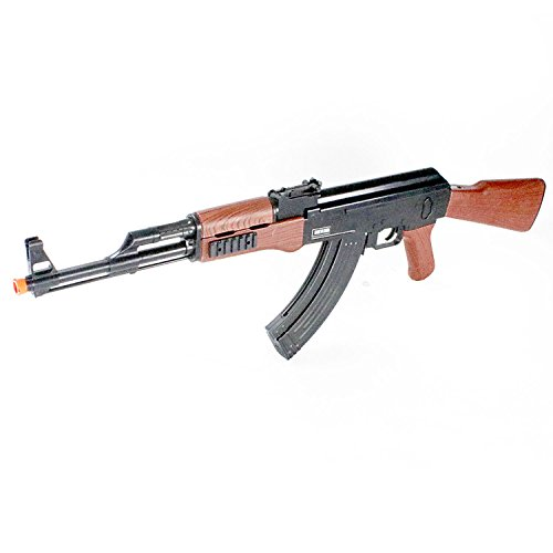BBTac Airsoft Spring Rifle A&K Airsoft Gun Full Size Great for Starter Shoot 6mm BBS with Safe Mode, Wood Color (Airsoft Ak47 Cheap)
