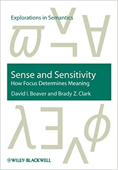 PDF Gratis Sense And Sensitivity: How Focus Determines Meaning