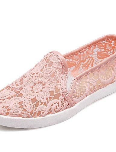 Blanco Uk5 encaje Cn38 Rosa 5 comfort tacón De negro Casual Pink Deporte Plano Zq mocasines Eu38 Zapatos Mujer us7 Gyht vestido 5 wPq6O1H