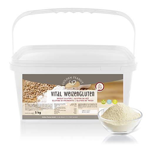 Vital tarwegluten, 5 kg, natuurlijk verdikkingsmiddel, puur plantaardig, tarweeiwit, zijaan | caloriearme eetsterkte…