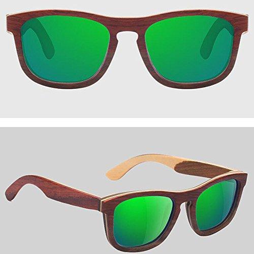 De Y Gafas De De Hechas Polarizadas Retro Gafas C3 De Sol Gafa De Madera Madera De Gafas Sol A Gafas con Sol Mano Bambú De Marco OaHxq8q