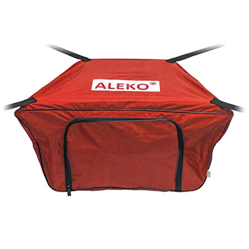ALEKO BTFB420R Front Bow Storage Bag Gear Pouch for 13.8 Foot Boats Water Resistant 34 x 19 Inches Red