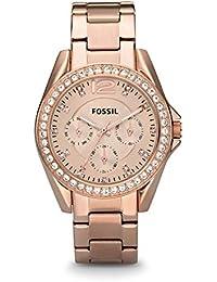 Women's Riley Quartz Stainless Steel Chronograph Watch, Color: Rose Gold (Model: ES2811)