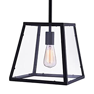 Zuo Modern Taupo 1-Light Ceiling Lamp, Distressed Black