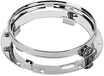 Sxma 1piece 7 Zoll Runde Led Scheinwerfer Halterung Klammern Ring Für Motorrad Wrangler Tj Jk 7inch Led Projektor Scheinwerfer Hj092 Silber Auto