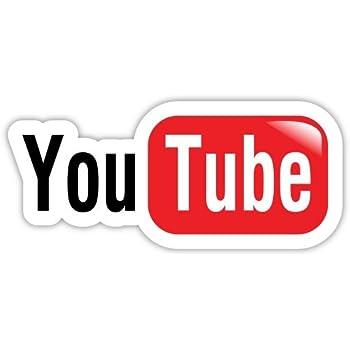 YouTube su nombre personalizado personalizado de ventana Etiqueta de vinilo Laptop Pegatina de Coche Camioneta