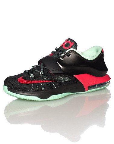 Nike KD VII GS (Good Apples) Black/Medium Mint-Action Red (4.5) by NIKE