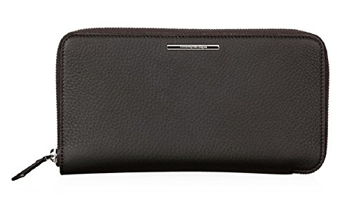 Ermenegildo Zegna Grained Leather Travel Wallet (One Size, Brown)
