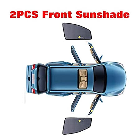 2 Pcs Front f/ür VW Touran 2006 2007 2008 2009 2010 2011 2012 2013 2014 2015 KUNFINE Auto-Fenster-Sonnenschutz magnetisch