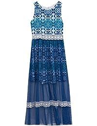 Big Girls' Mesh Printed Maxi Dress