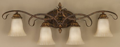 Murray Feiss VS10904-ATS Sonoma Valley 4-Light Vanity Fixture, Aged Tortoise Shell (Lights Murray Vanity Feiss)