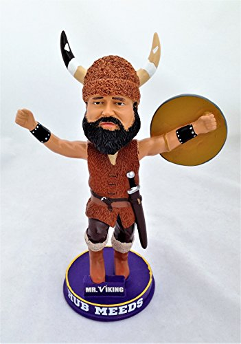 - Hub Meeds Minnesota Vikings Mr. Viking Mascot Bobblehead #'d/348 (Limited Production)(Bobble Head)