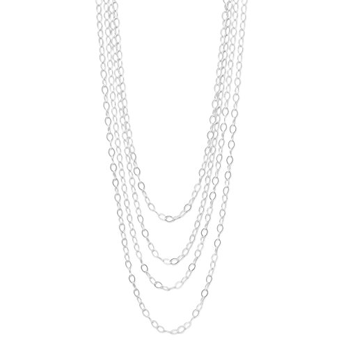 Extra Long 100-inch Oval Link Necklace Sterling Silver - Made in the USA