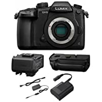 Panasonic Lumix DC-GH5 Mirrorless Camera Body, Black, with Video Kit (DMW-XLR1 XLR Audio Expansion Unit, DMW-BGGH5 Battery Grip, DMW-AC10 AC Adapter, and DMW-DCC12 DC Coupler)