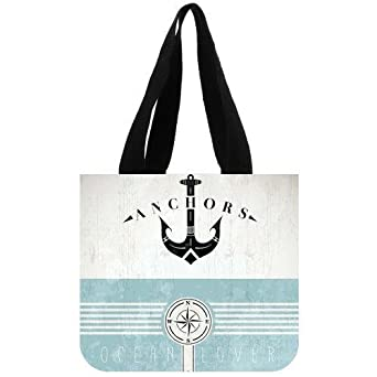 Emana Vintage Design Template With Anchor Custom Cavans Tote Bag 2