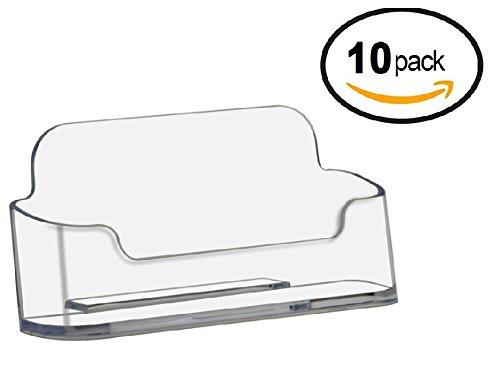 - Deflect-O Deflecto Business Card Holders Single Compartment, 3-3/4
