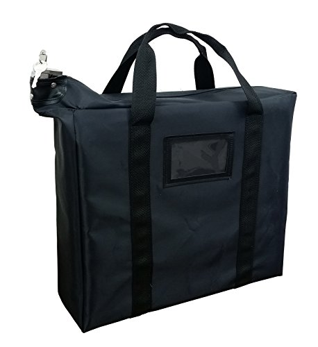 Grade School Computer Desk - Briefcase Style Locking Document Bag (Black)