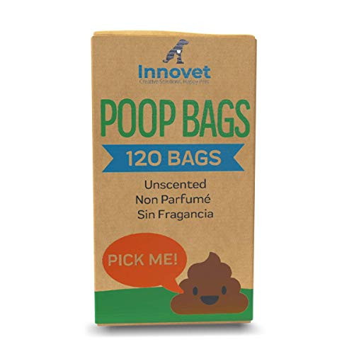 Innovet Pet Products INNOVETPET Eco Friendly Dog Poop Bags – Biodegradable Poop Bags for Pets. Unscented, Extra Strong…