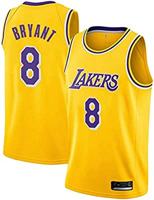 Camisetas de Baloncesto for Hombre Lakers Kobe Bryant # 8 Jersey ...
