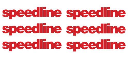 6 x Speedline wheel decals stickers die cut vinyl