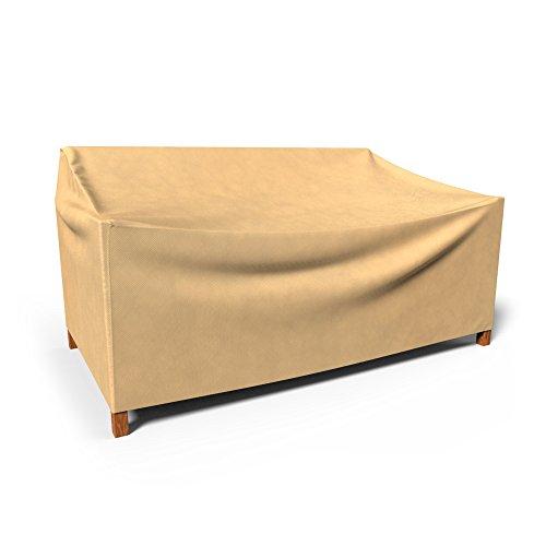 Budge All-Seasons Outdoor Patio Sofa Cover, Small (Tan)