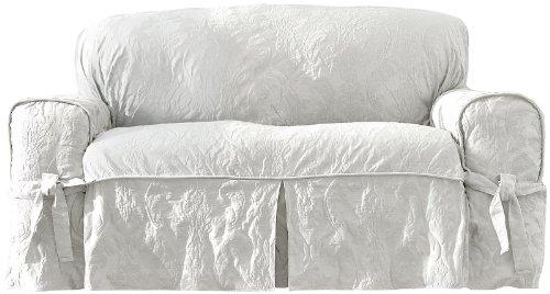 - Sure Fit Matelasse Damask 1-Pc Sofa-White