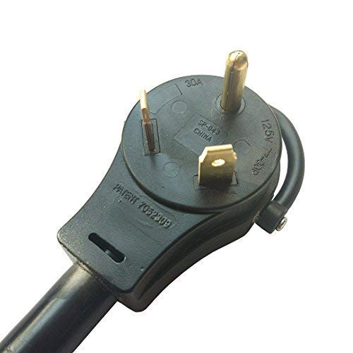 Parkworld 886535 RV 30A to Shore Power 50A Extension Cord Adapter TT-30P to SS2-50R (36FT)