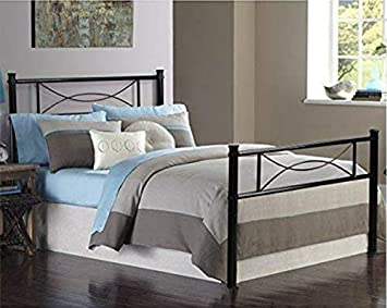 Amazon Com Gime Bed Frame Twin Size Easy Set Up Premium Metal