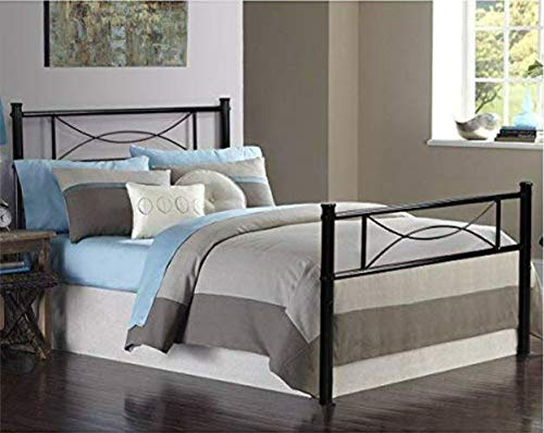 Bed Frame Twin Size, Yanni Easy Set-up Premium Metal Platfor